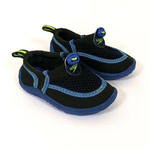 Speedo Toddler Boys Blue Black Slip On Water Shoes